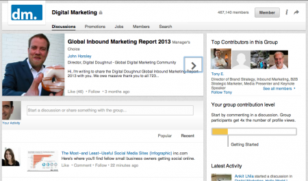 Linkedin nuova grafica Gruppi
