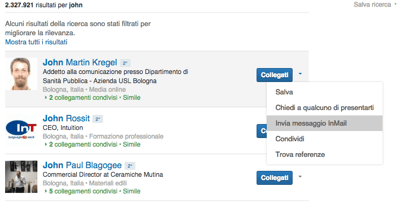Linkedin InMail da Ricerca - Mimulus