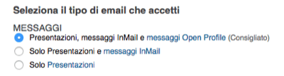Linkedin Opzioni InMail - Mimulus