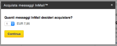Linkedin acquista InMail - Mimulus