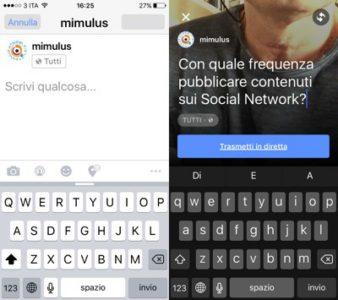 Facebook VideoLive Inizio - Mimulus
