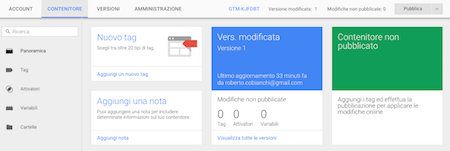 Google Tag Manager Dashboard - Mimulus