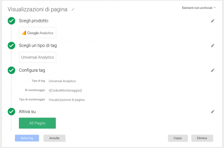 Google Tag Manager Variabile Monitoraggio - Mimulus