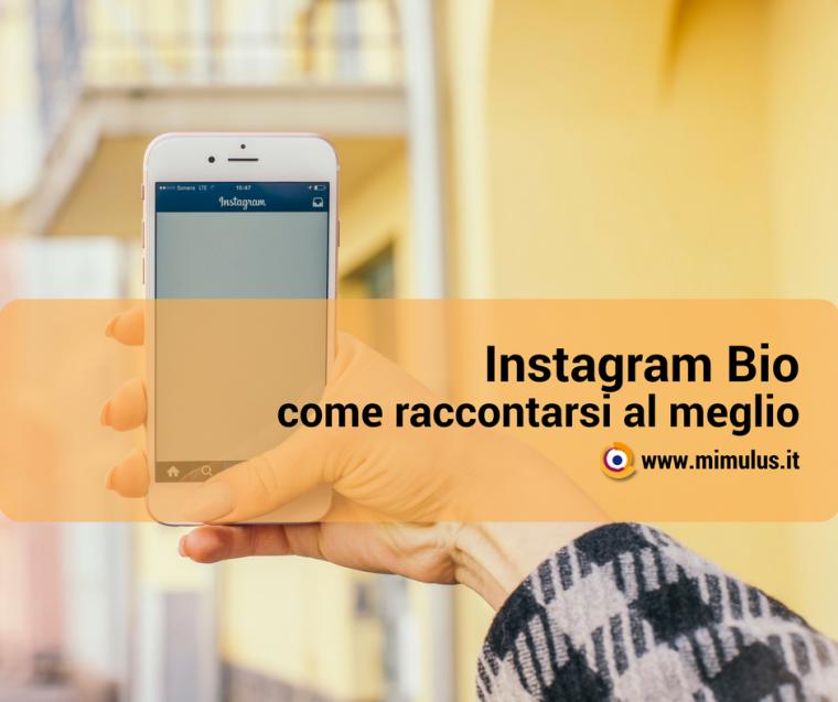 Come scrivere la Biografia nel profilo Instagram