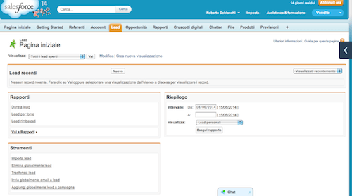 Salesforce CRM per le vendite
