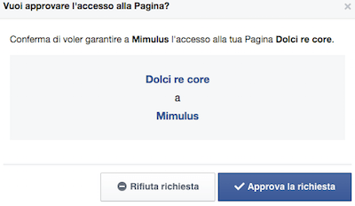 Facebook Business Accetta Richiesta - Mimulus
