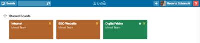Trello home - Mimulus
