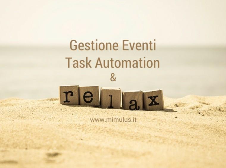 Come semplificare la gestione di Eventi con la task automation